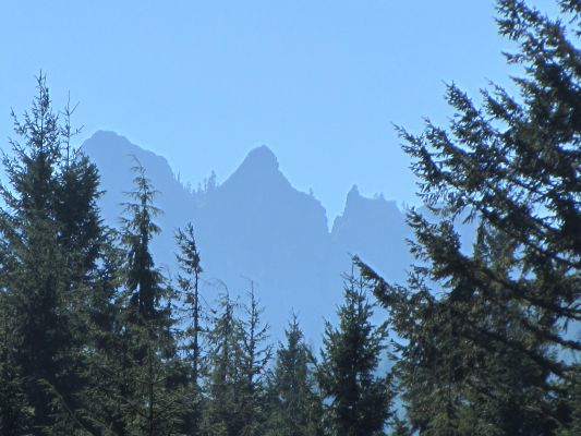 Sawtooth peaks ( location of High Rock Lookout) from Observatory