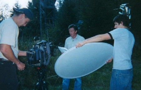Cedar assists Kevin and Grant in the October 2004 shoot for Northwest Backroads for KING 5 TV Seattle